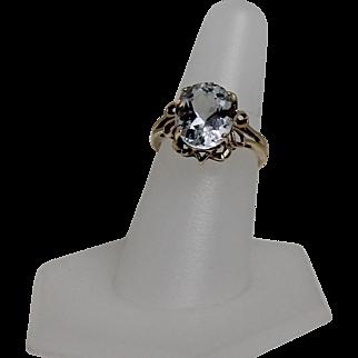 Vintage Aquamarine Ring, 10kt YG