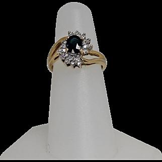 Sapphire and Diamond Ring, 14Kt YG
