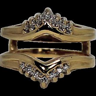 Diamond Ring Guard, 14Kt YG