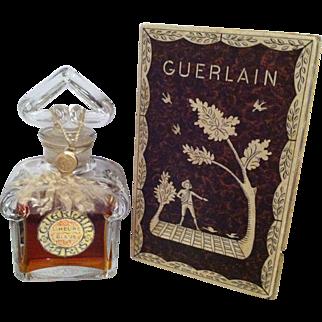 Guerlain Vintage L'Heure Bleue Parfum in Signed Baccarat 1.25 oz Bottle