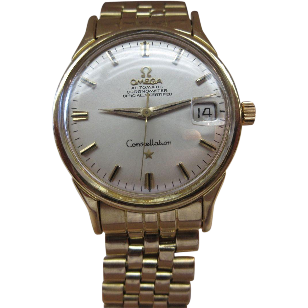 vintage omega constellation cal 561 solid 18k gold men s watch vintage omega constellation cal 561 solid 18k gold men s watch overhauled