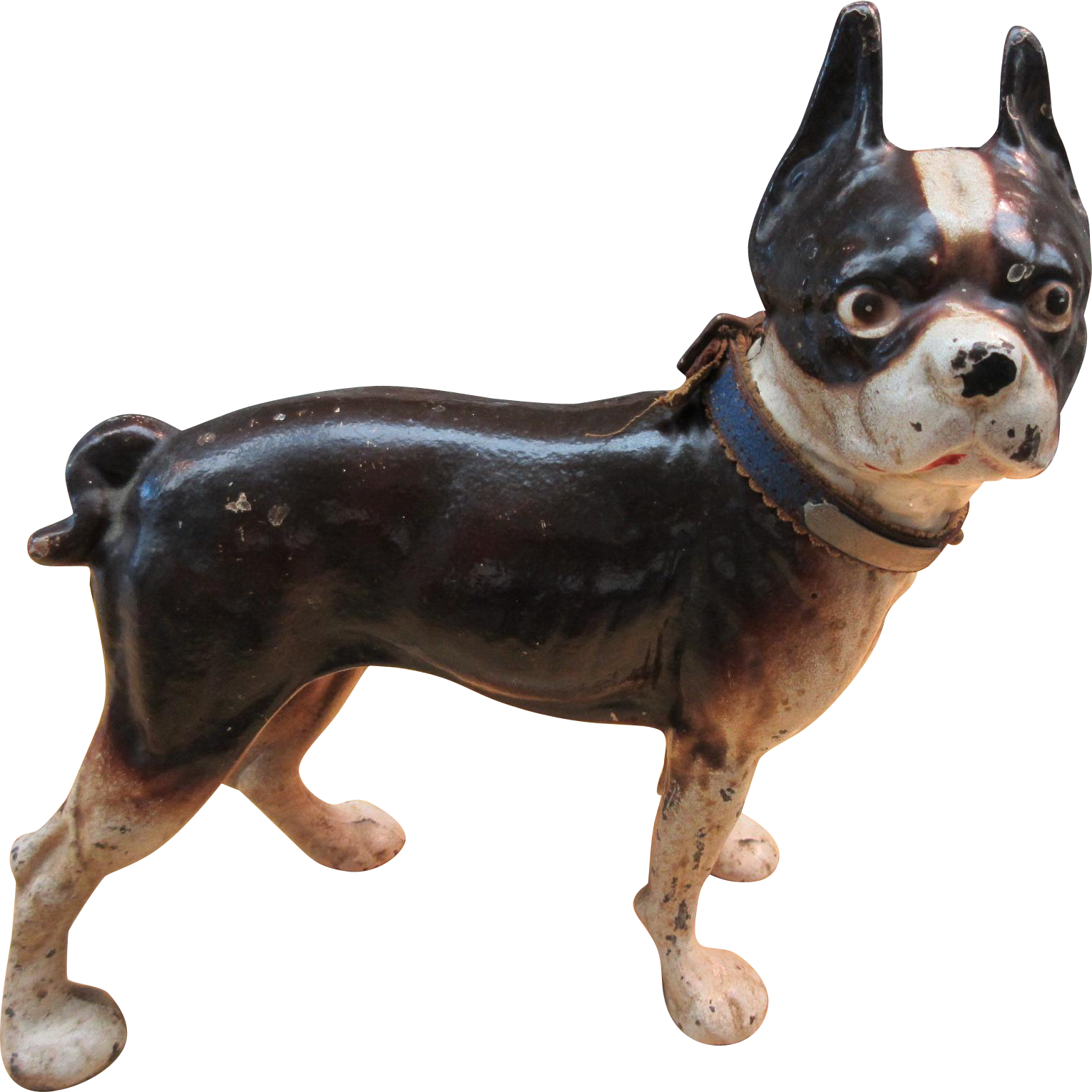 Antique hubley cast iron dog doorstop boston terrier french bulldog sold on ruby lane - Cast iron dog doorstop ...