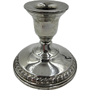 Vintage Columbia Sterling Silver weighted Candle Holder