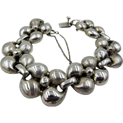 Antonio Belgiorno Buenos Aires Sterling Silver Thick Link Bracelet T27 Signed