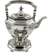 Art Nouveau Antique GORHAM Sterling Silver 925 Hot Water Kettle on Stand, c.1914; 47toz