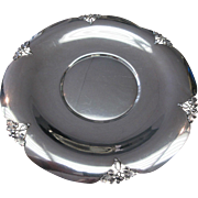 Art Deco M Fred Hirsch Sterling Silver Alexandria Footed Platter Tray 12 1/2""