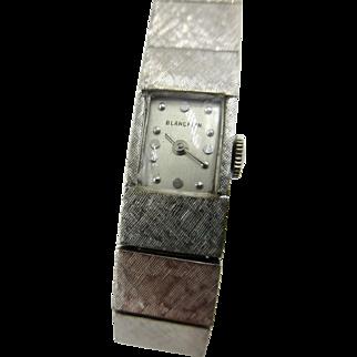 Vintage Rare Ladies Blancpain 17j wristwatch 14k white gold Art Deco 34.5 grams