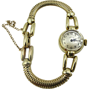 Rare Vintage Hamilton 17j Solid 14k Yellow gold case & Band woman's Watch