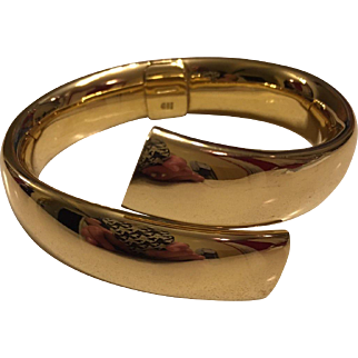 Carlo Weingrill Bypass 18kt Yellow Gold Bangle Bracelet 62 GR.