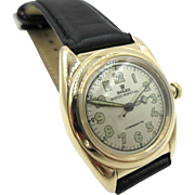 Vintage Rolex 14k Gold Bubble Back Automatic Watch 1940s Ref 3131