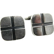 Vintage Hans Hansen Sterling Silver Cufflinks Denmark 1937-1947