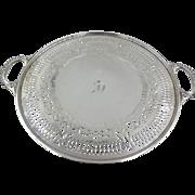 1914 Gorham Sterling Silver Pierced pedestal Cake Platter