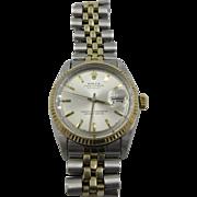 Vintage Rolex 14k SS Datejust Automatic Watch 1969 mens
