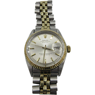 Vintage Rolex 14k SS Datejust Automatic Watch 1969 mens