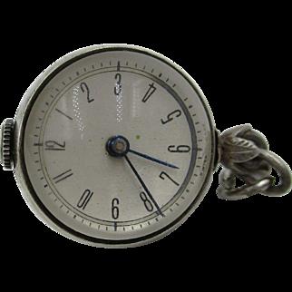 Vintage Rolex Tudor Ball Pendant Mechanical Watch Sterling Silver Rare Estate