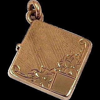 Victorian 14k Rose Gold Picture Locket Pendant