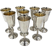 International Sterling Sterling Silver Cordial Shot Glass Goblets set of 8