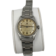 Rolex watch Oyster Royal 6044 Stainless Steel Vintage 1950s 32mm