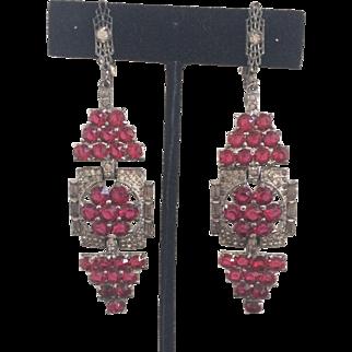 Breathtaking Art Deco Earrings