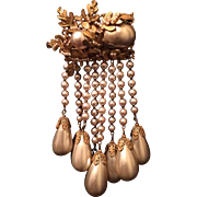 Magnificent Miriam Haskell Drippy Faux Pearl Pin