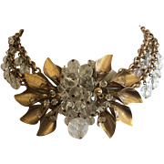 Early Miriam Haskell Crystal Necklace