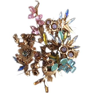 The Show Must Go On Floral Masterpiece Pin
