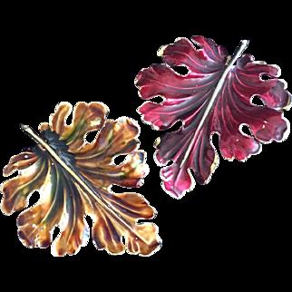 Autumnal Weiss Leaf Pins