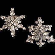 Pair of Sorrell Snow Flake Pins