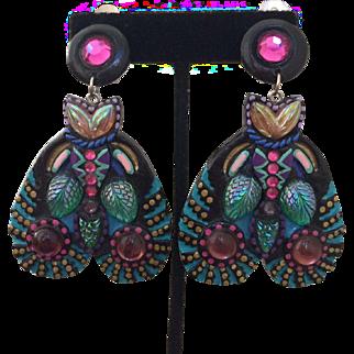 Wild Colorful Butterfly Earrings