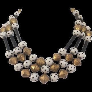 Polka-dot Beaded Necklace