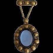 Ben Meltzer Blue Stone Hanging Pendant Pin