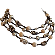 Vintage 1950's 4 Strand Beaded Necklace