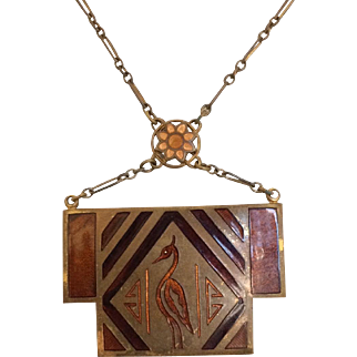 Egyptian Revival Pendant Necklace from the 1920's