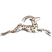 Colorful and Geometric Bejeweled Gazelle Pin