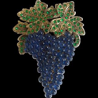 Blue Grapes Dress Clip