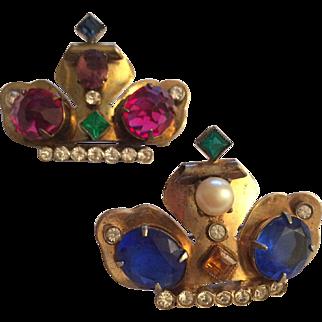 Coro Crown Pins