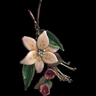 Massive Enamel Floral Pin