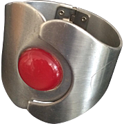Moderne Aluminum Clamp Bracelet