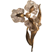 Rare and Large Lucite Jelly Flower Brooch