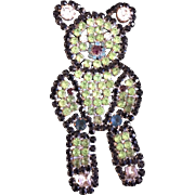 Lime Green Teddy Bear Pin