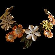 Sandor Enameled Floral Necklace