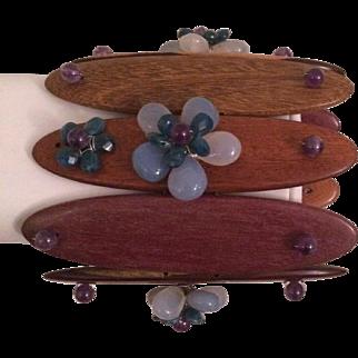 Som Wood & Semi-Precious Stone Bracelet