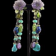 Gian Paolo Maria Long Drop Earrings