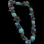 """Semi-Precious 42"""" Necklace"""