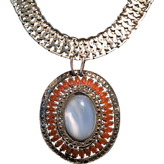Marcasite Accented Pendant Necklace