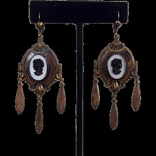 Victorian Cameo Earrings