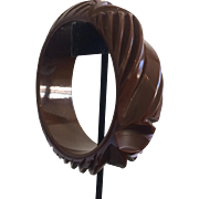 Deeply Carved Bakelite Bracelet