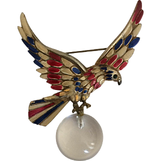 Patriotic Red, White and Blue Eagle Jelly Pin