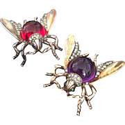 Crown Trifari Insect Bug Pins