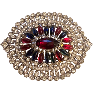 1940's Red, White and Blue Pin